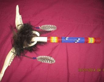 Double Deer Jaw Bone Peyote Stick - Handcrafted Peyote Sticks - MtManCreation