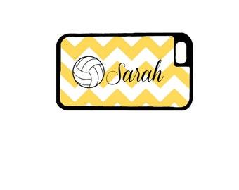 Volleyball Chevron Stripe Cell Phone Case