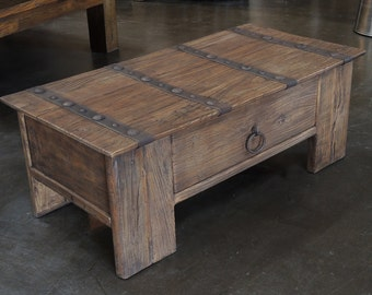 Teak coffee table with drawer by Terra Nova Furniture Los Angeles