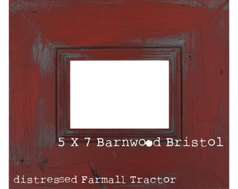 Barnwood Bristol Painted Reclaimed Wood Picture Frame 4 X 6 - 11 X 14 sizes