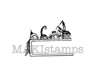 Small label stamp Brownies in the Wild West / NEW collection / Unmounted rubber stamp or cling stamp (150108)