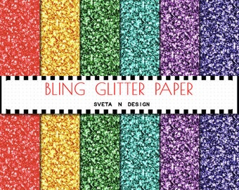 Glitter Digital Paper Background {Texture Pattern Overlay} for scrapbooking - Instant Download