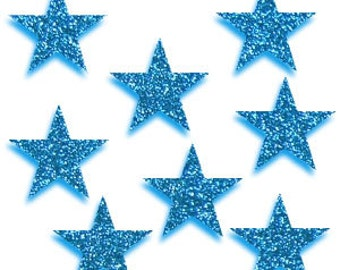 8 laser cut star cabochons, choose colour and acrylic type! 20mm