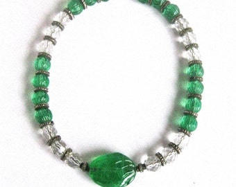 Art-Deco Crystal Bead Choker