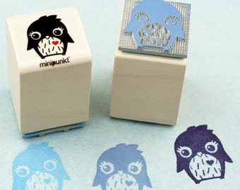 Stamp with Penguin Luja