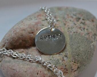 Arthur BBC Merlin stamped pendant necklace