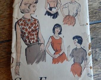 Advance 3011 Sew-Easy beginners blouse pattern Uncut size 18