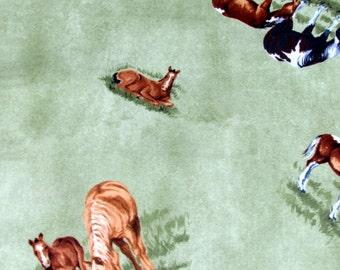 Per Yard, Grazing Horses Fabric