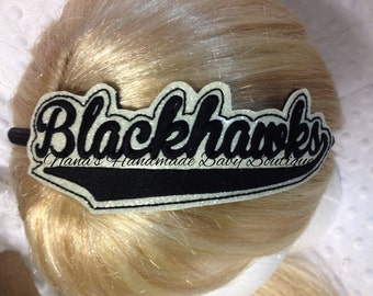 Blackhawks - Team Headband Slip On  - DIGITAL EMBROIDERY DESIGN