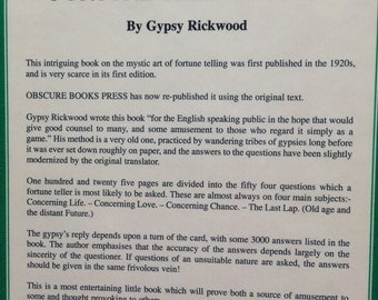 Gypsy Rickwood's Fortune Telling Book By Gypsy Rickwood