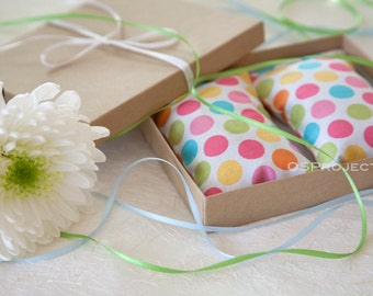 Colorful Dots Party Favor Lavender Sachets in the Gift Box - Party Favor - Baby Shower Favor Gift Sachets - Organic Lavender bag bulk
