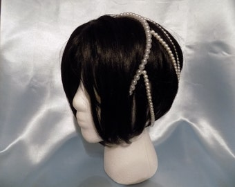 Graciela- Wedding head band, Pearl head band, Wedding Hair Accessory, Wedding Head Piece, Bridal Hair Piece, Pearl Hair Piece, Free Shipping