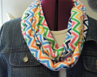 multicolor soft knit infinity scarf