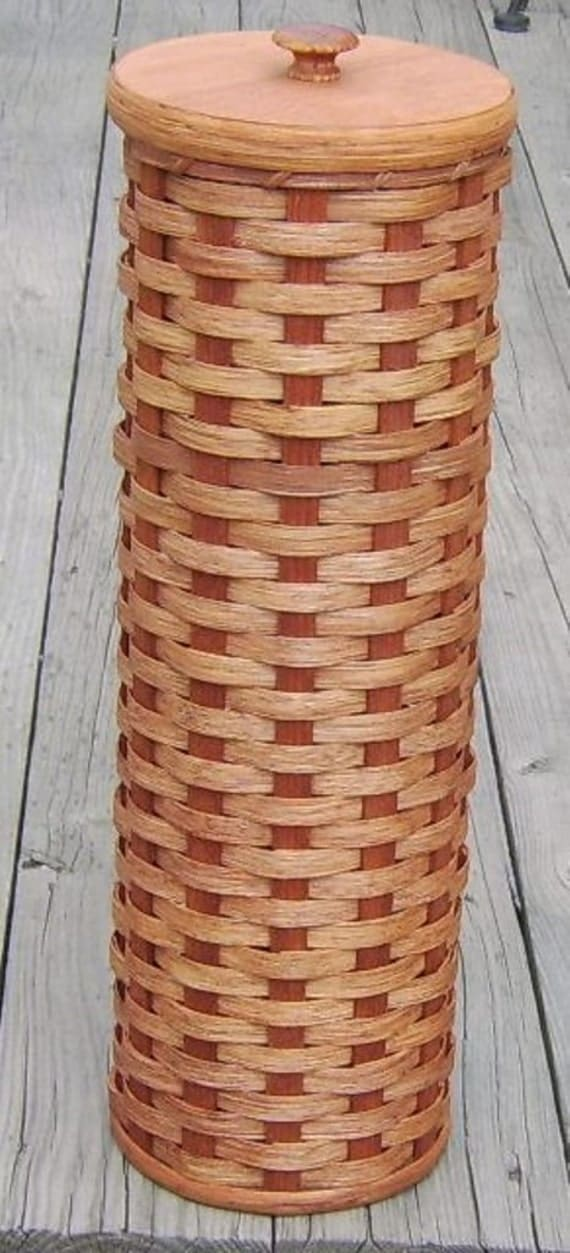 amish handmade toilet paper holder basket with wooden lid custom colors available see item. Black Bedroom Furniture Sets. Home Design Ideas