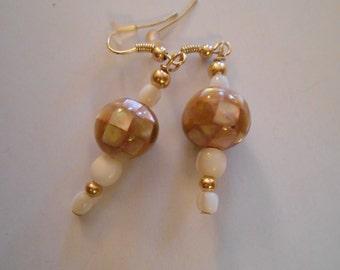 Shiny Brown Sea Shell Earrings Item No. 21