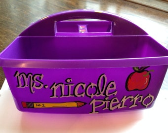Personalized Art Caddy ... a great gift for your Teacher!