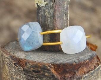 Cocktail Ring, Moonstone Ring, Gold Gemstone Ring, Unique Engagement Ring, Natural Stone Ring, Designer Gemstone Ring, Semi Precious Ring
