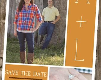 Save The Dates -  2 Photos - Initials & info