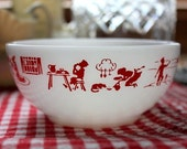 Rare  FIRE KING Childs Prayer Cereal Bowl
