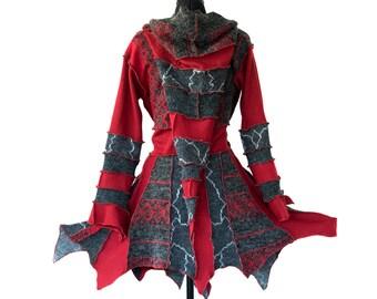 items similar to lace coat upcycled doily clothing rock