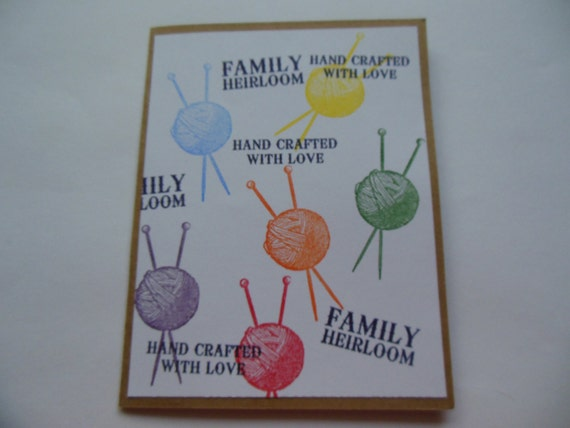 Knitting Birthday Card : Card for knitter knitters birthday craftng by