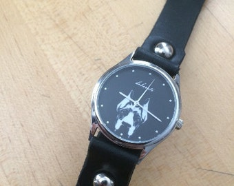East Side Collars & Doberati: Woman's Leather Graphic Watch