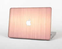 The Rose Gold Brushed Surface Skin for the Apple MacBook Air-Pro or Pro with Retina Display (Choose Version)