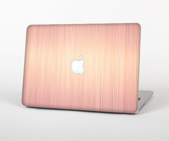 the rose gold brushed surface skin for the apple macbook. Black Bedroom Furniture Sets. Home Design Ideas