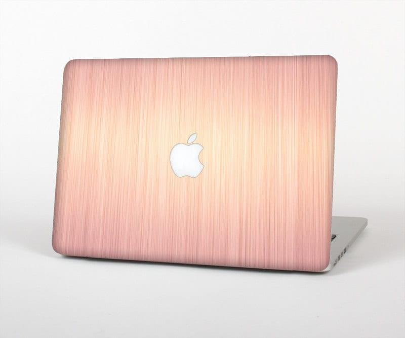 the rose gold brushed surface skin for the apple macbook. Black Bedroom Furniture Sets. Home Design Ideas