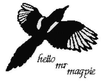 Hello Mr Magpie PDF cross stitch pattern