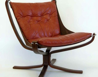 Falcon Bentwood and Leather Chair - Sigurd Ressel