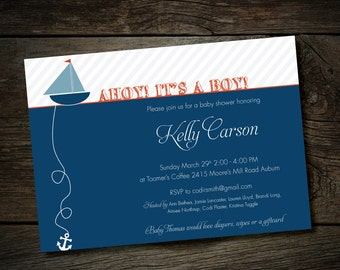 Printable - Nautical Baby Shower Invitation