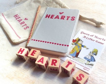 Queen of Hearts - Wooden Letter - Spelling Game