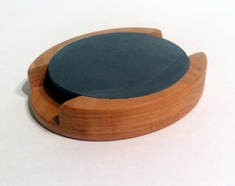 Friction Turkey Call made from Cherry Wood and Natural Slate, Scratch Turkey Call, Slate Call, Pot Call, Rockcastle Gobbler