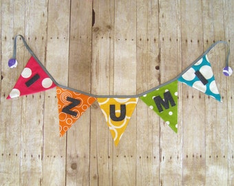 Rainbow Name Banner / Colorful banner / Party Banner / Name Banner / Rainbow banner / bunting / garland / name sign
