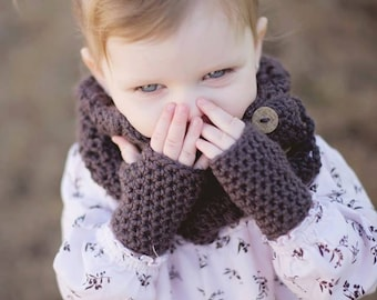 Childrens Fingerless Gloves - Baby Gloves - Crochet Gloves - Toddler Gloves - Photo Prop - kids gloves - girls gloves - crochet mittens
