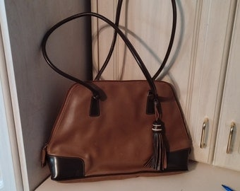 Leather Purse with wide opening