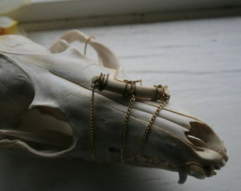 Animal bone and chain necklace