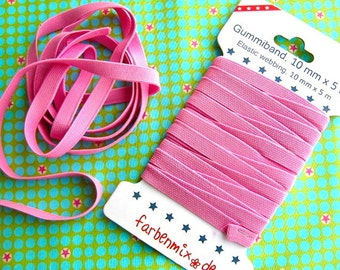 Rubber band color mix pink 1 m