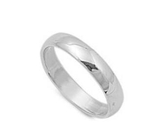 Silver Wedding Band - Silver Engagement Band - Sterling Silver Band - Wedding Band - Sterling Band - Silver Engagement Ring - Silver Band