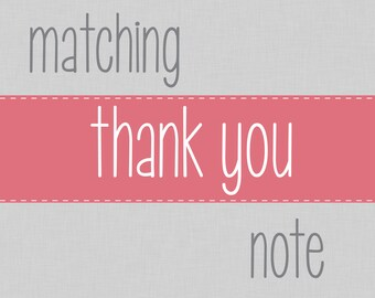 Coordinating Thank You Note