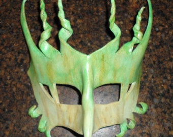 Deep forest dragon - leather mask - this one available now