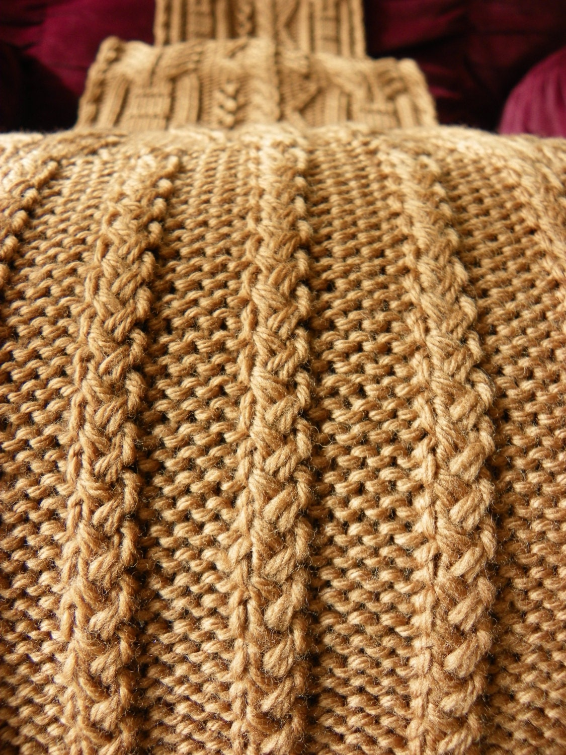Pattern to Knit Copious Cables Scarf DK Weight yarn PDF