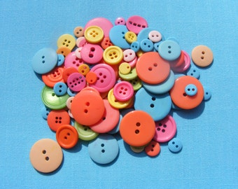 Buttons in pastel shades