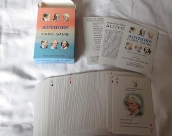 Authors Card Game Printed in Belgium