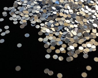 solvent-resistant glitter shapes-silver dots