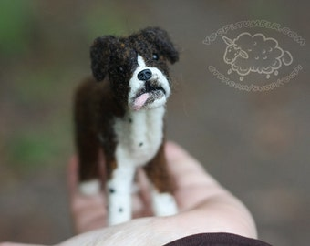CUSTOM Needle Felted Small Dog Portrait, Made to order