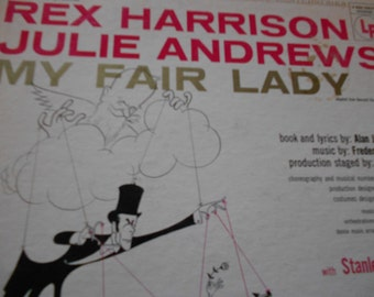 My Fair Lady -Rex Harrison-  Julie Andrews  vinyl record