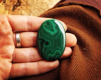 MALACHITE *BIG!!* cabochon - high quality cabochon