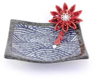 Japanese tsumami kanzashi hair ornament- Geisha Mameji